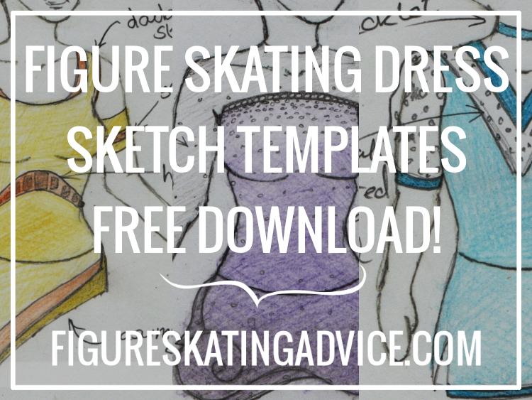 figure skating advice figure skating dress sketch templates